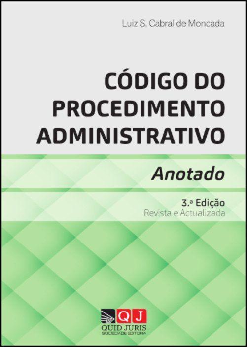 Código do Procedimento Administrativo Anotado