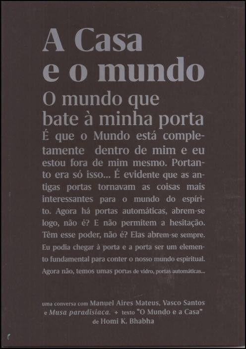A Casa e o Mundo: uma conversa com Manuel Aires Mateus, Vasco Santos e Musa Paradisíaca