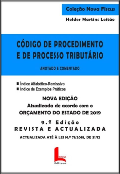 Código de Procedimento e de Processo Tributário - Anotada e Comentada