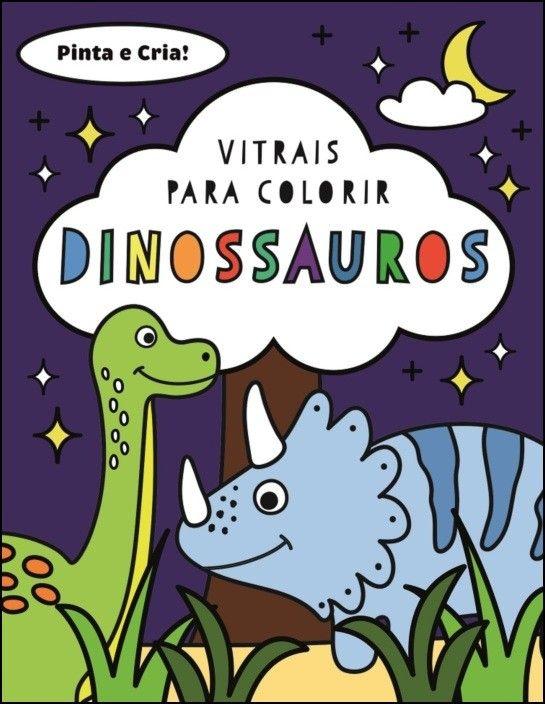 Vitrais para Colorir - Dinossauros
