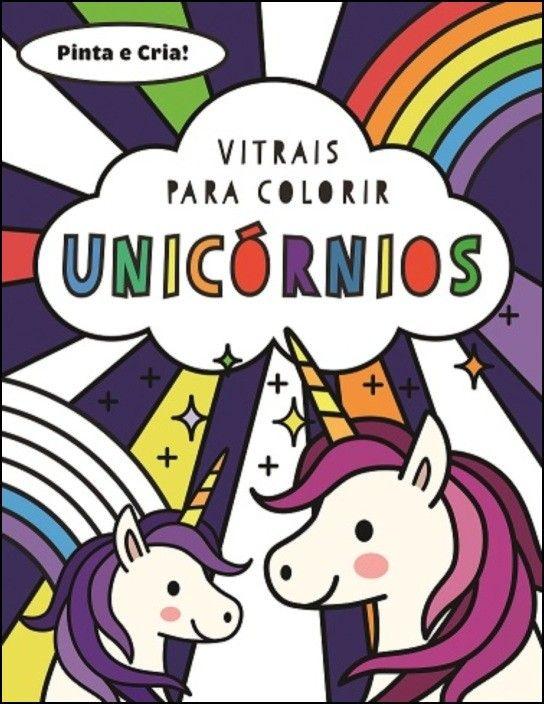 Vitrais para Colorir - Unicórnios
