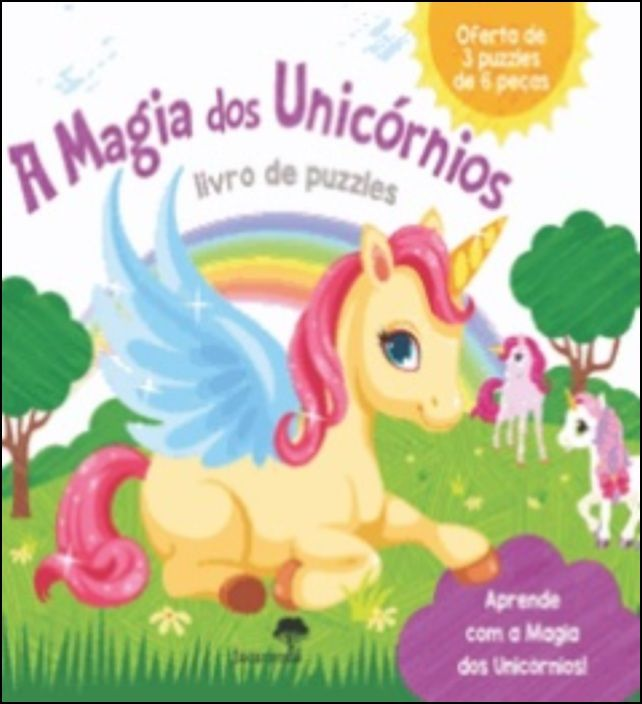 A Magia dos Unicórnios - Livro de Puzzles